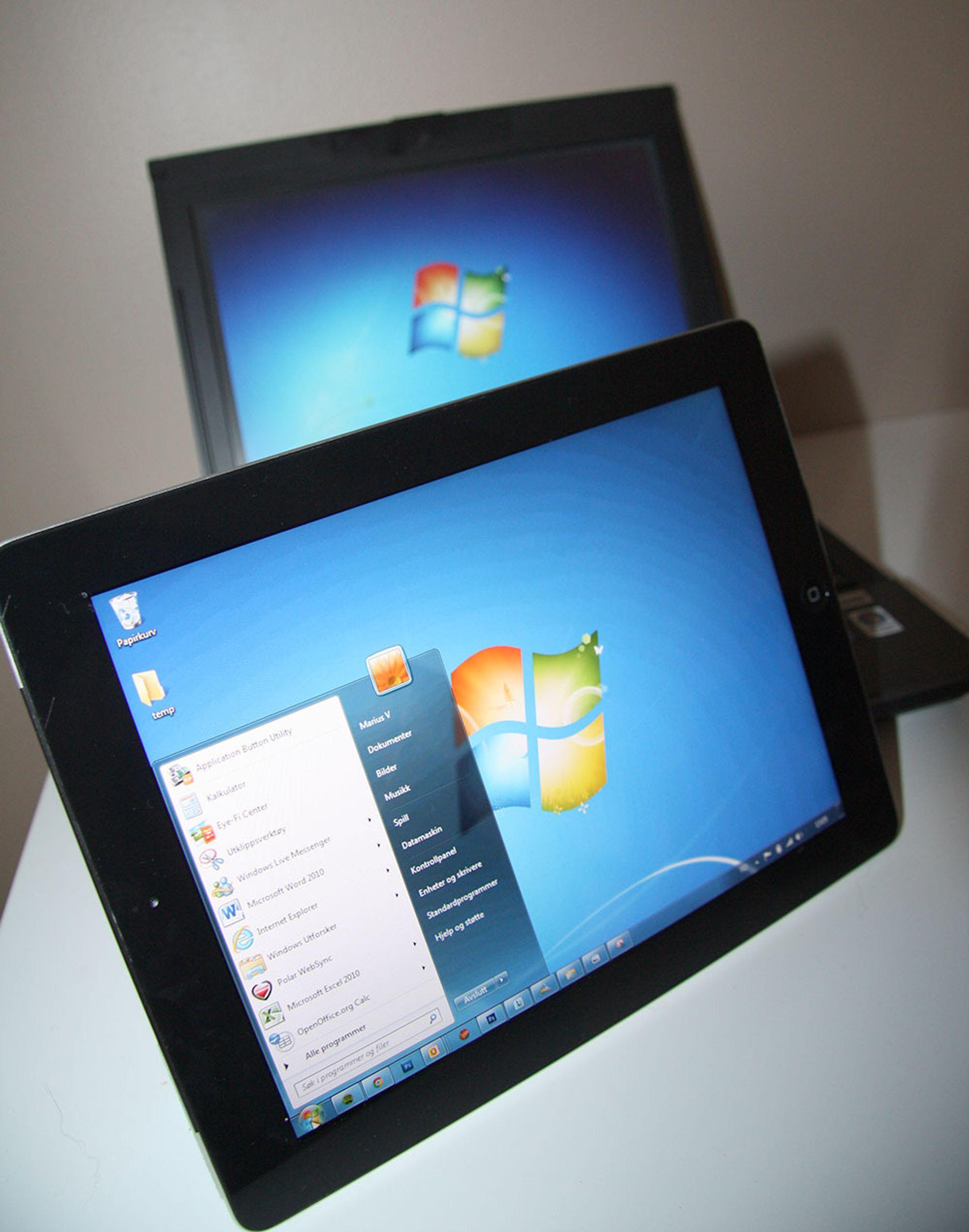 iPad kan enkelt brukes som PC-skjerm.
