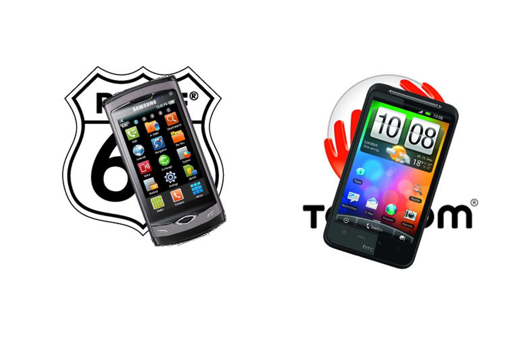 Samsung Wave og HTC Desire får GPS-dealer