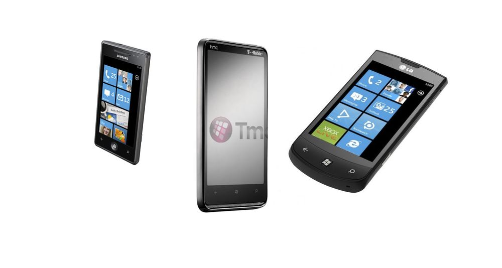 Her er Windows Phone 7-telefonene