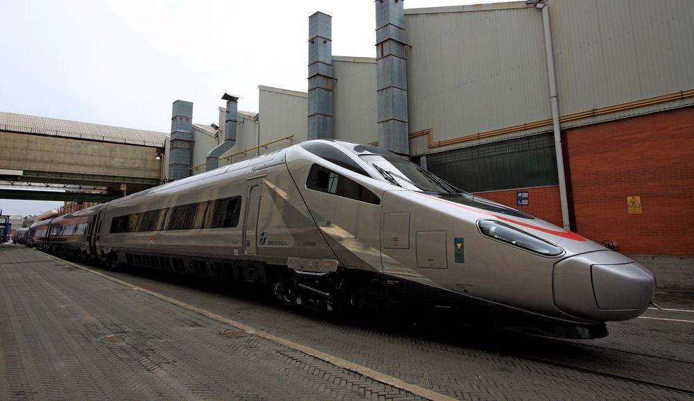 Pendolino-høyhastighetstogene produseres av Alstom i Italia.