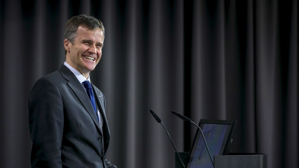 TIL STEDE: Statoil-sjef Helge Lund er en av mange mektige deltakere på Oslo Energy Forum denne uken.