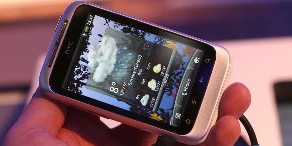 Lyntest av HTC Wildfire S