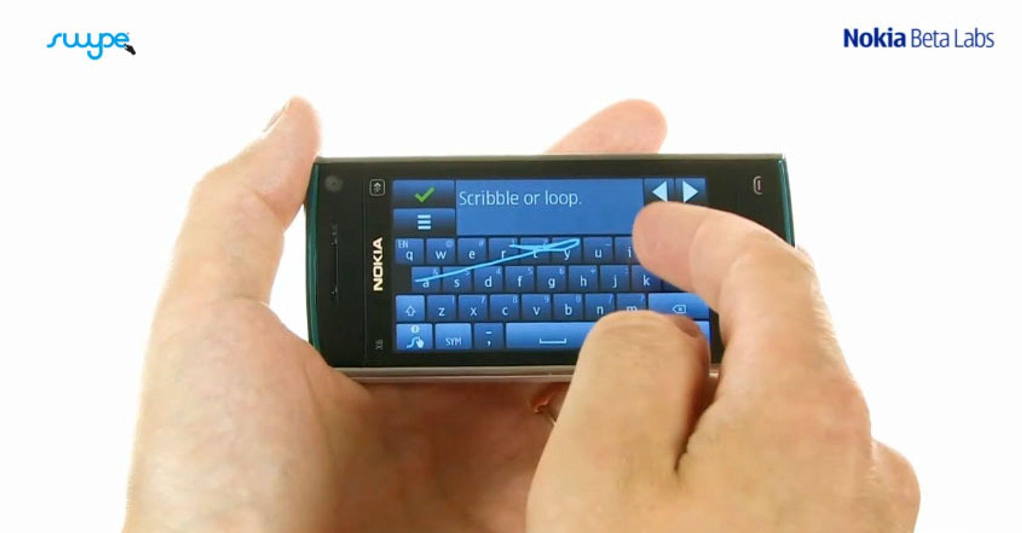 Nå får du Swype på Nokia-telefonen din