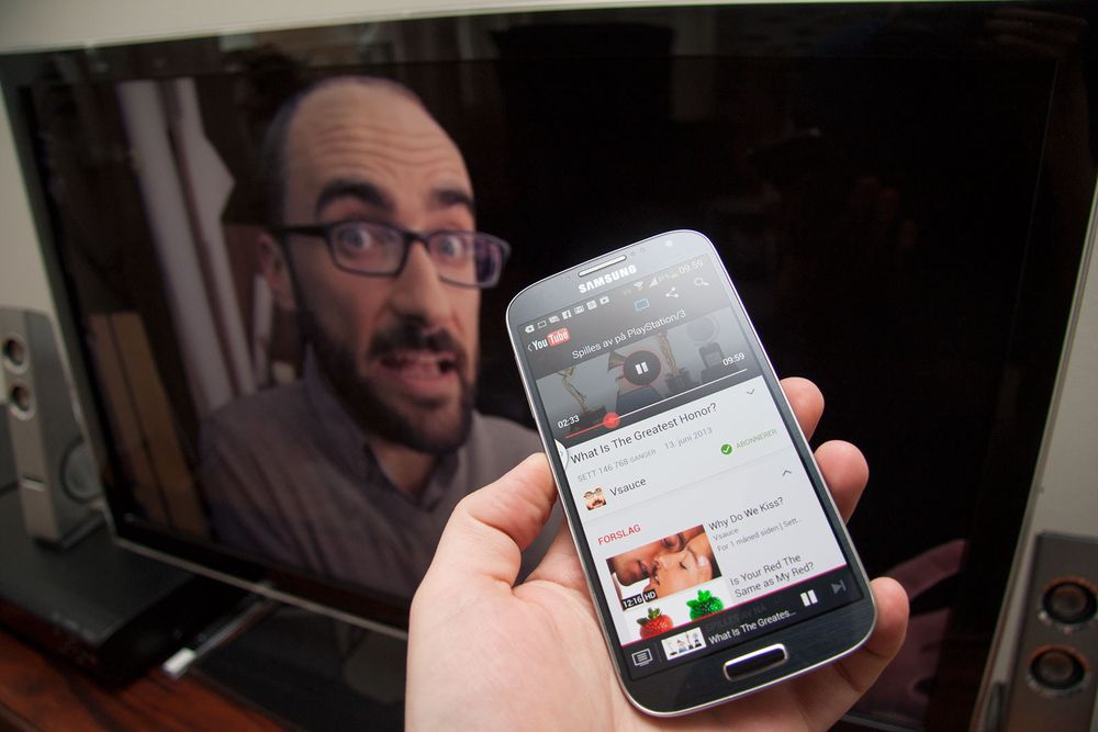 Bruk mobilen som YouTube-fjernkontroll