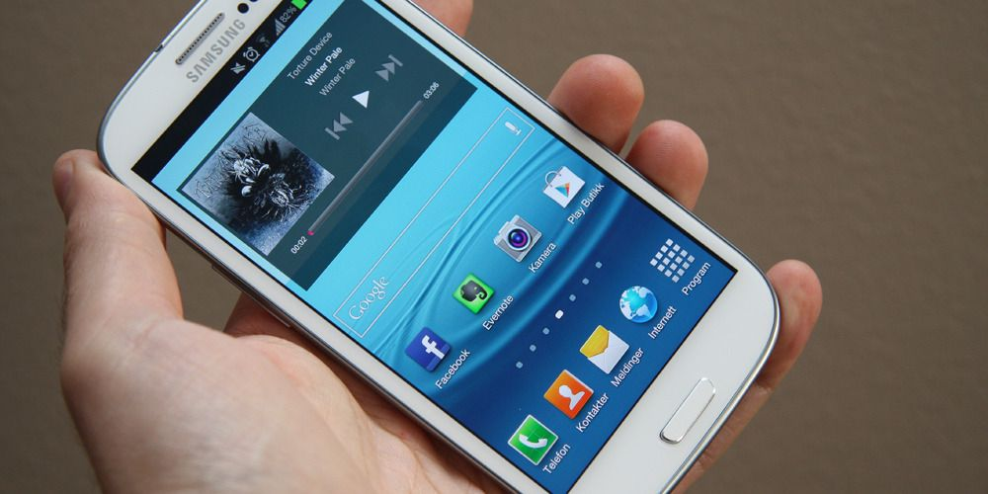 Dropper Galaxy S III med 64 GB