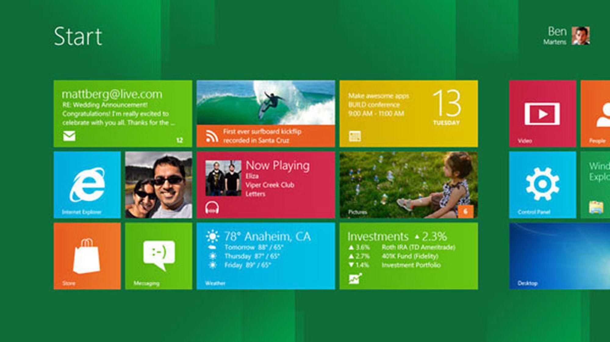 – Windows 8 er like bra på nettbrett som på PC