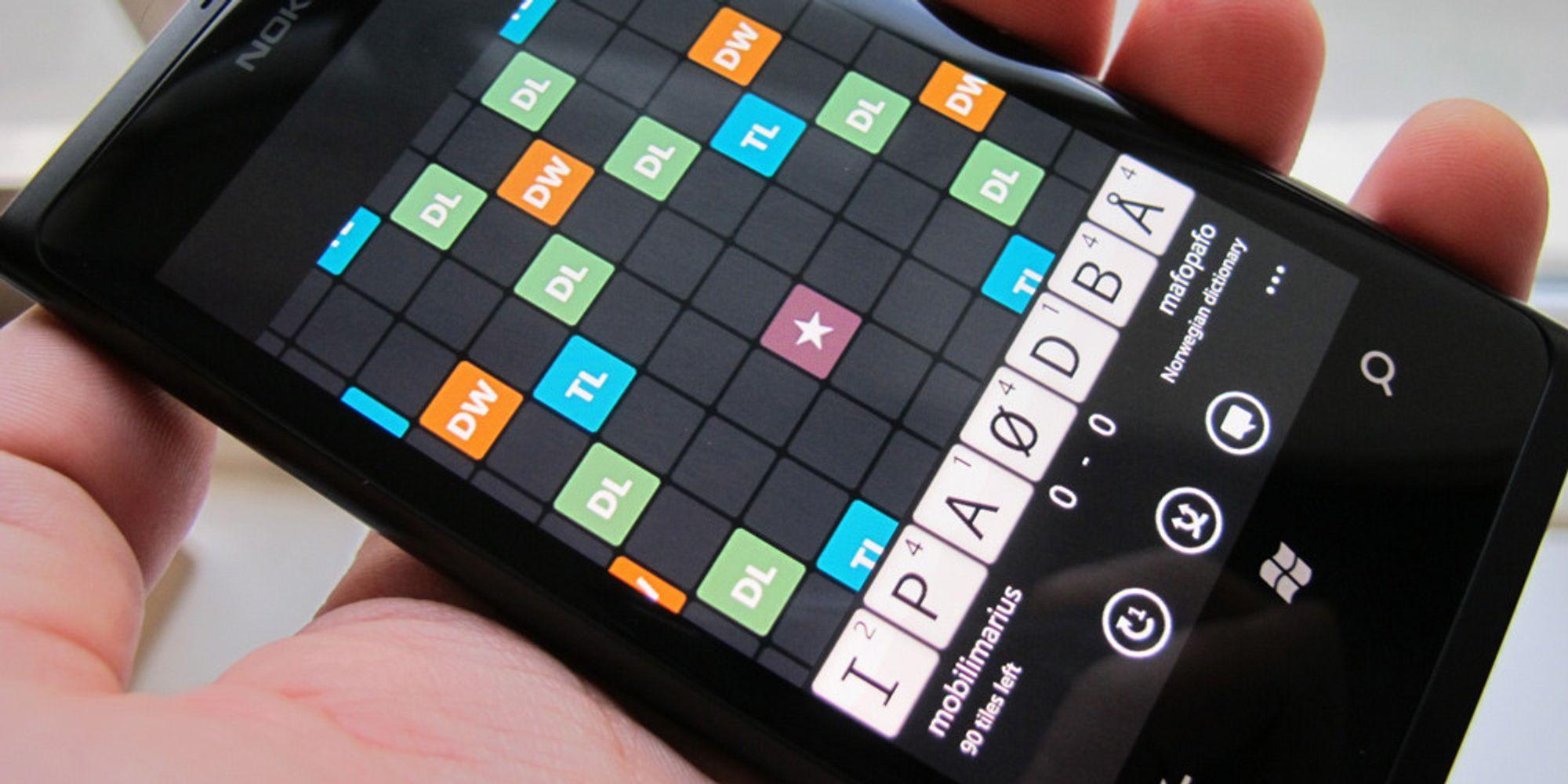 Nå får du Wordfeud på Windows Phone