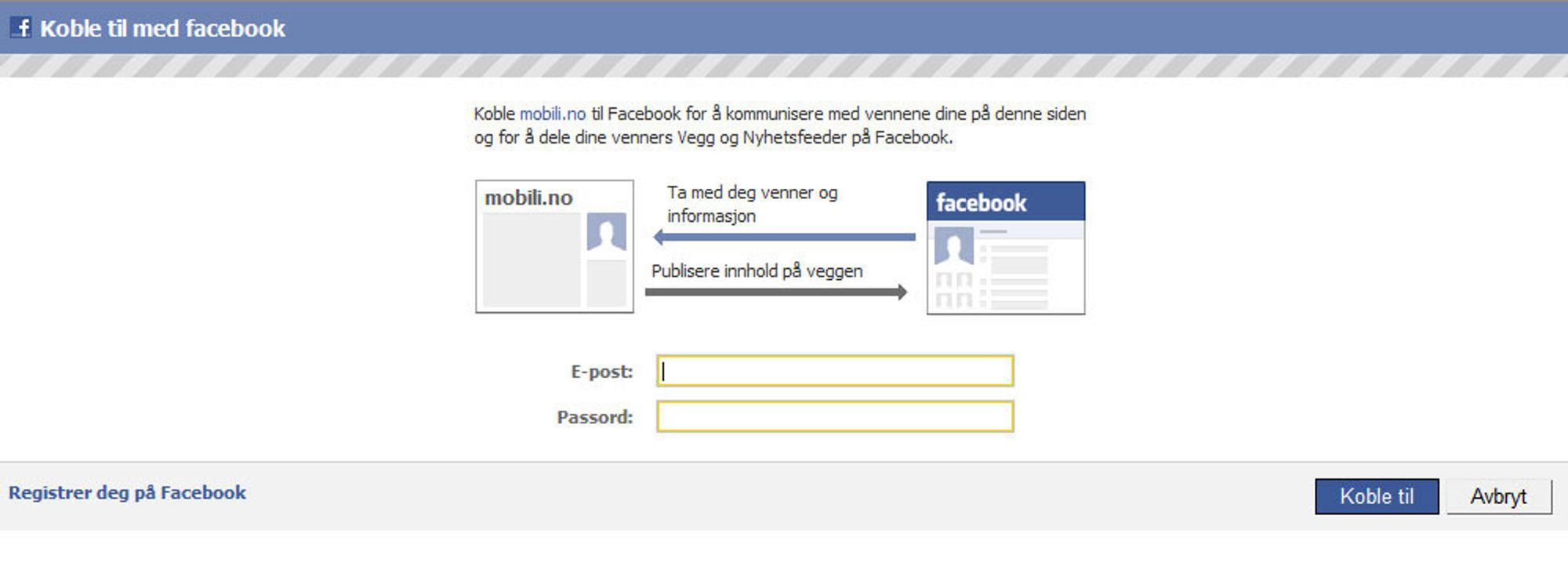 Mobili + Facebook = sant!