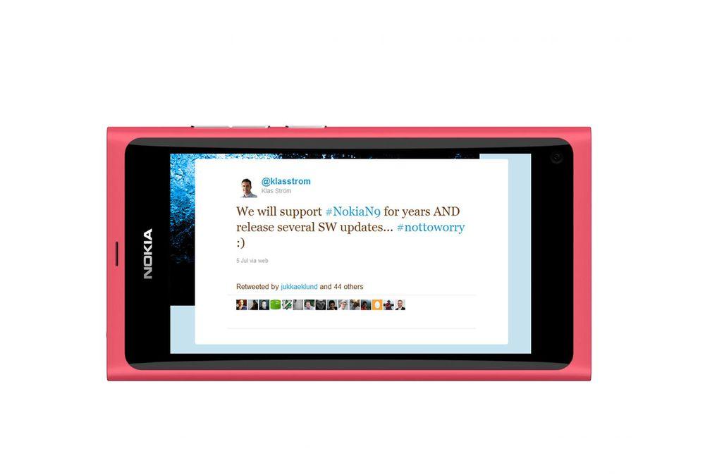 Nokia lover å ikke glemme N9-eiere