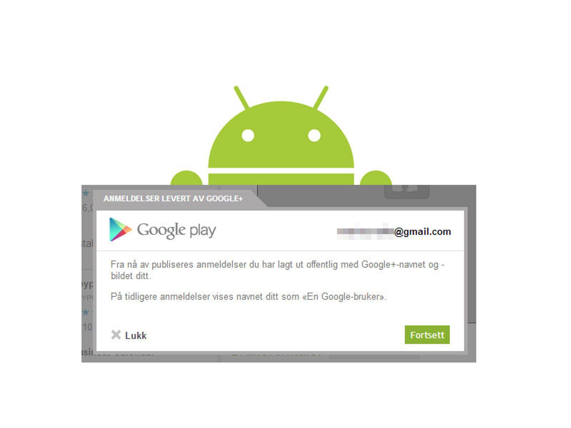 Slutt på anonyme app-anmeldelser