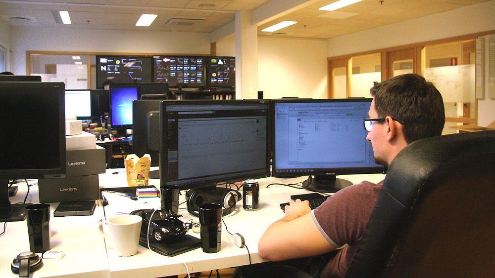 Fra sine lokaler i Oslo administrerer annonseportalen Rubrikk.no mellom 15 og 17 freelancere fra hele verden.