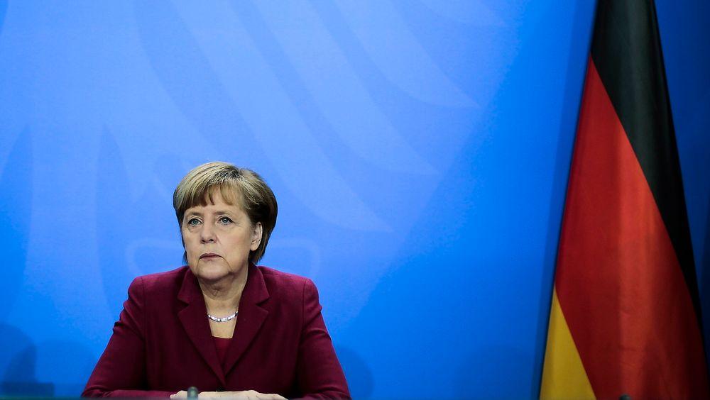 Statsminister Angela Merkel mener mer må gjøre for å styrke datasikkerheten i Europa.