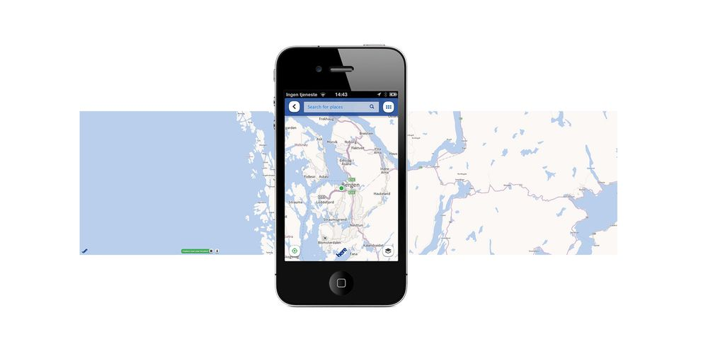 "Vi har testet ""Nokia Maps"" på iPhone"