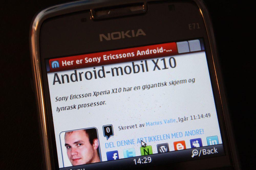 Minitest av Opera Mobile 10 beta