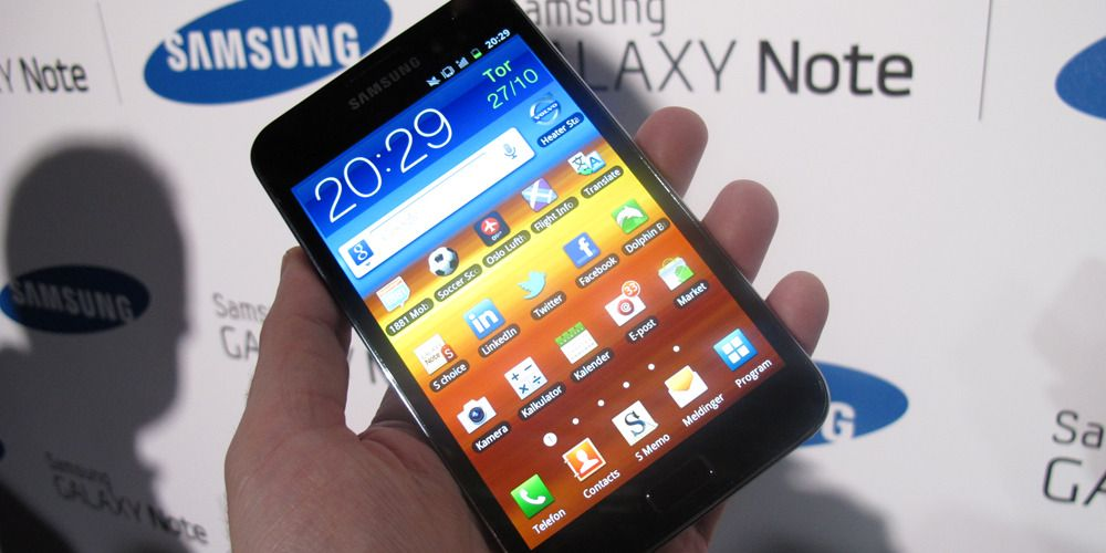 Lyntest av Samsung Galaxy Note