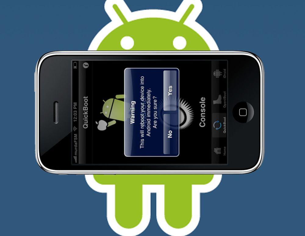 Få Android på iPhone uten å bruke en kabel
