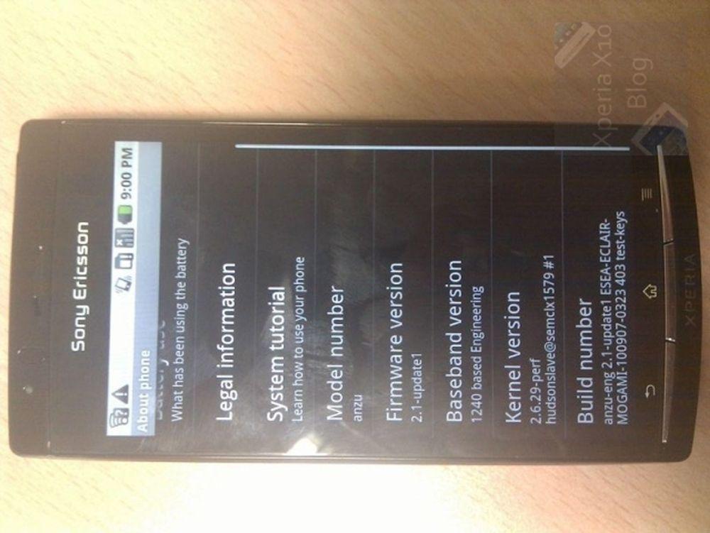 Her ser du (kanskje) oppfølgeren til Xperia X10