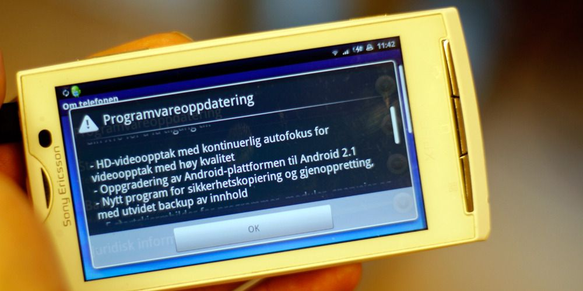 Endelig Android 2.1 til X10-serien