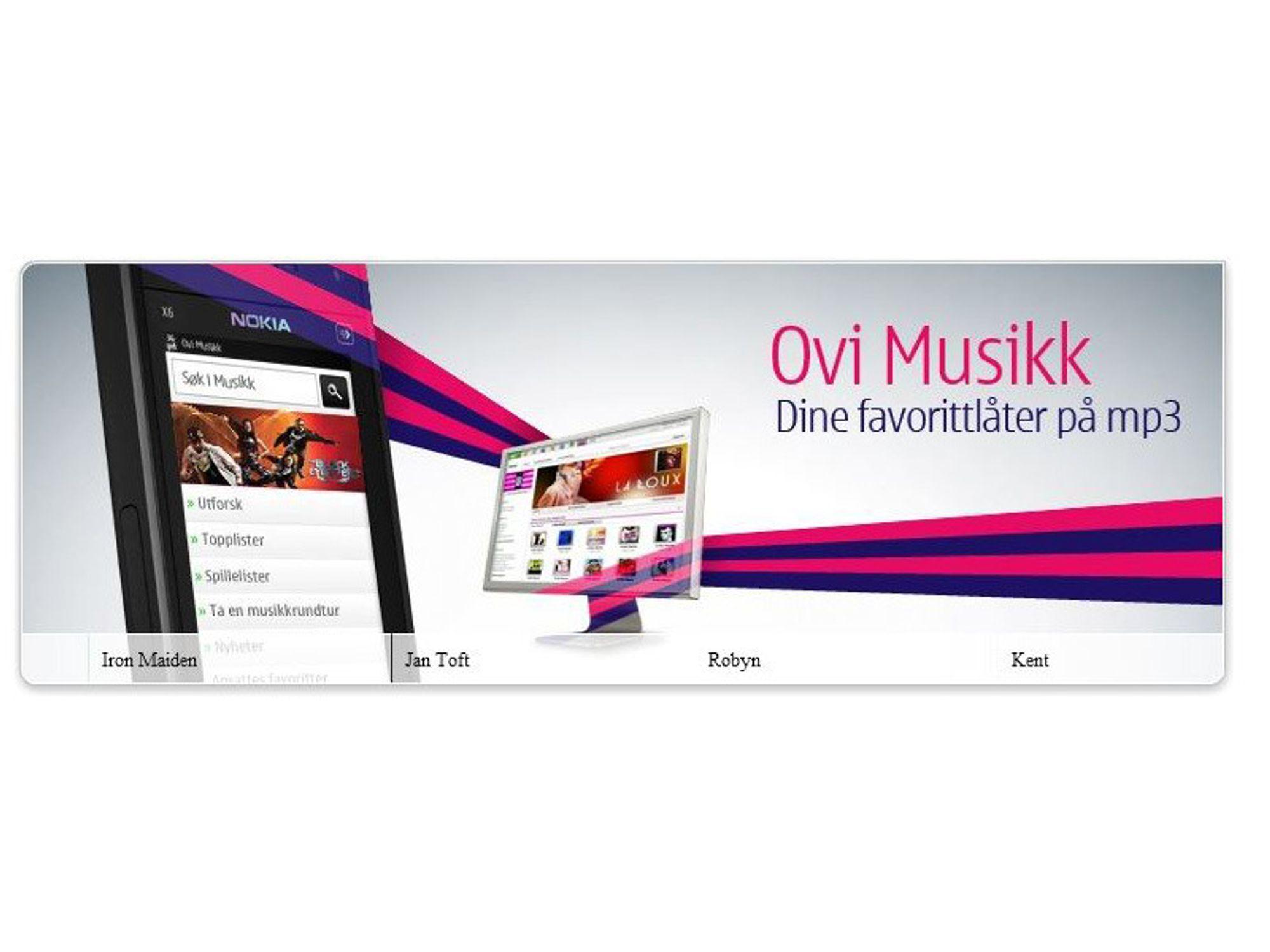 Nokia oppgraderer musikkbutikken sin