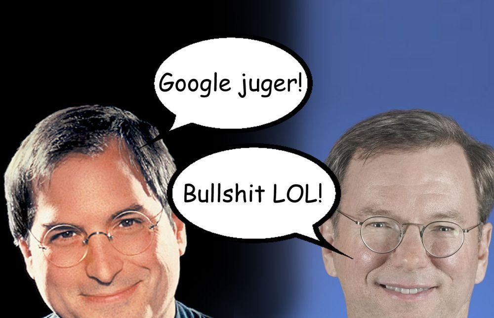 Jobs tror Google lyver