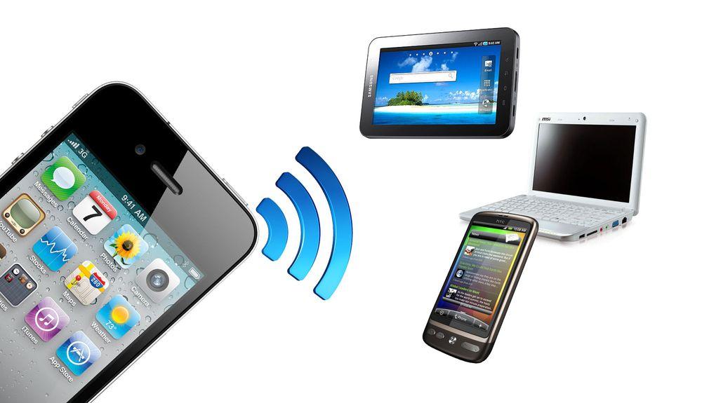 Slik deler du mobilt bredbånd