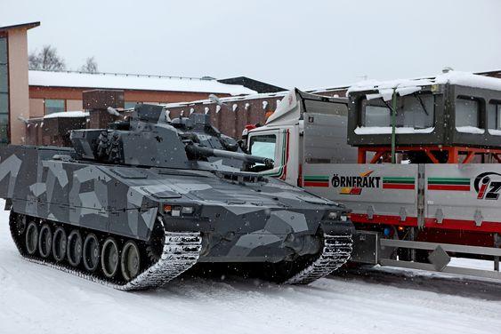 Norge har bestilt 144 nye/oppgraderte CV90-vogner som produseres her i Örnsköldsvik mellom Sundsvall og Umeå på den svenske østkysten.