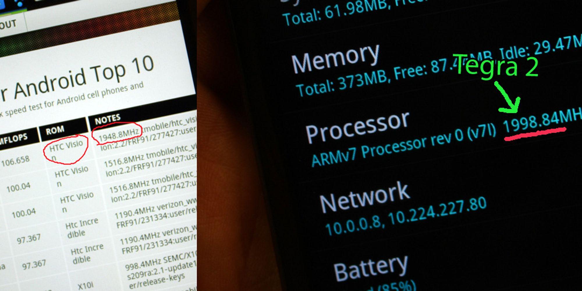 Er dette HTC første dobbeltkjerne-telefon?