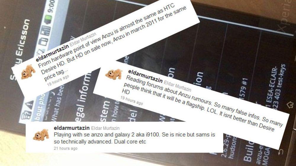 - Sony Ericsson Anzu er ekte