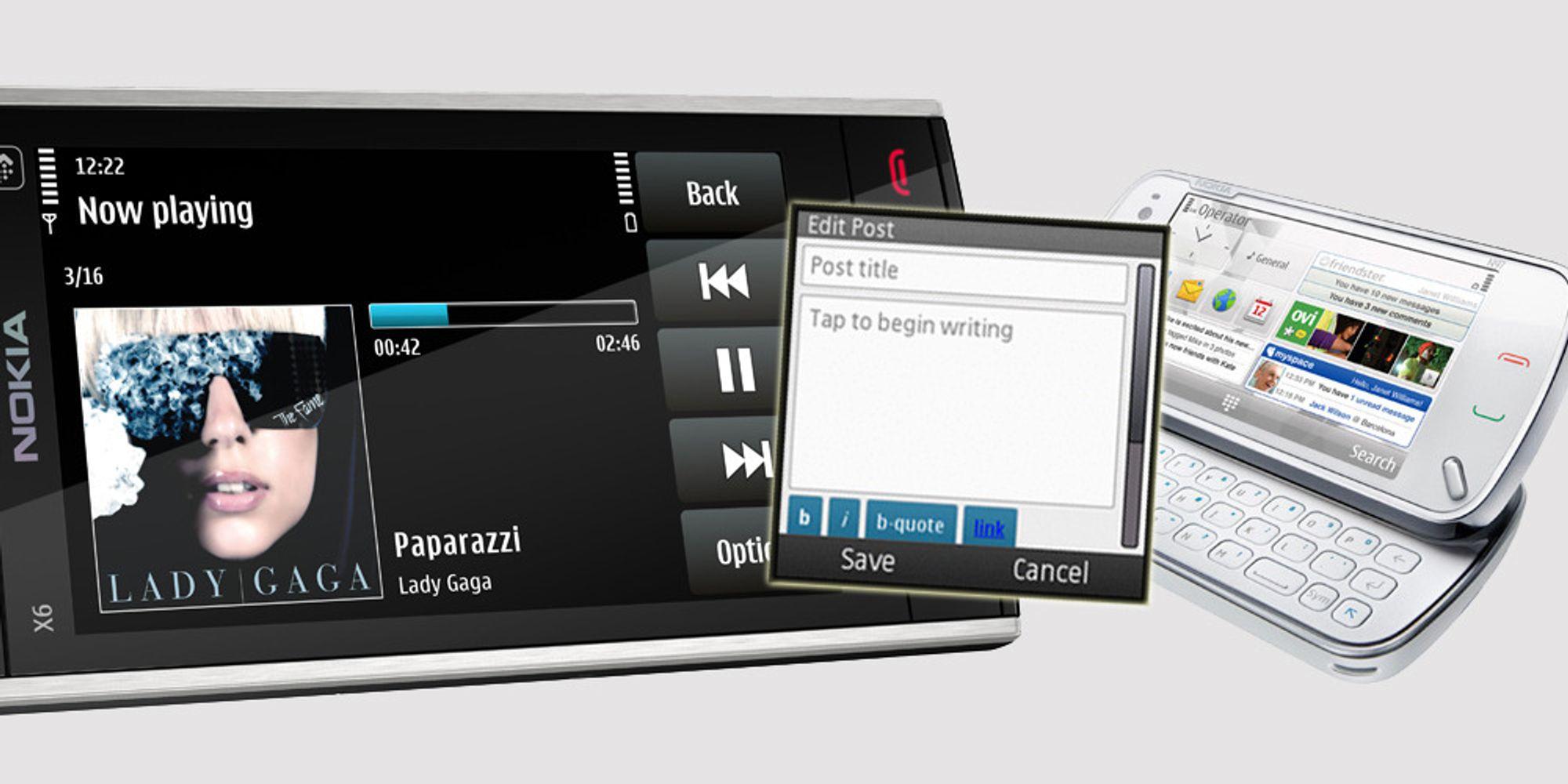 WordPress-app ute til Symbian