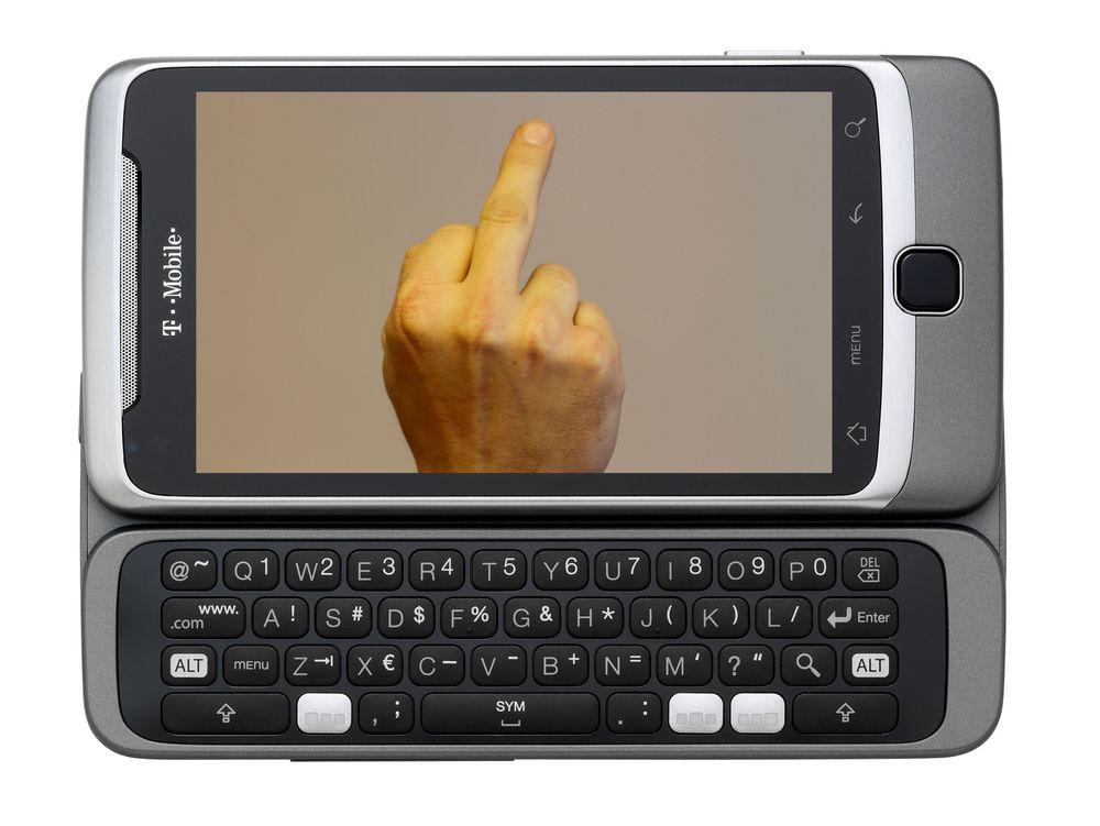 Mobilen som  gir deg fingern
