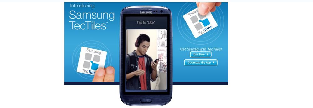 Samsung lanserer TecTiles