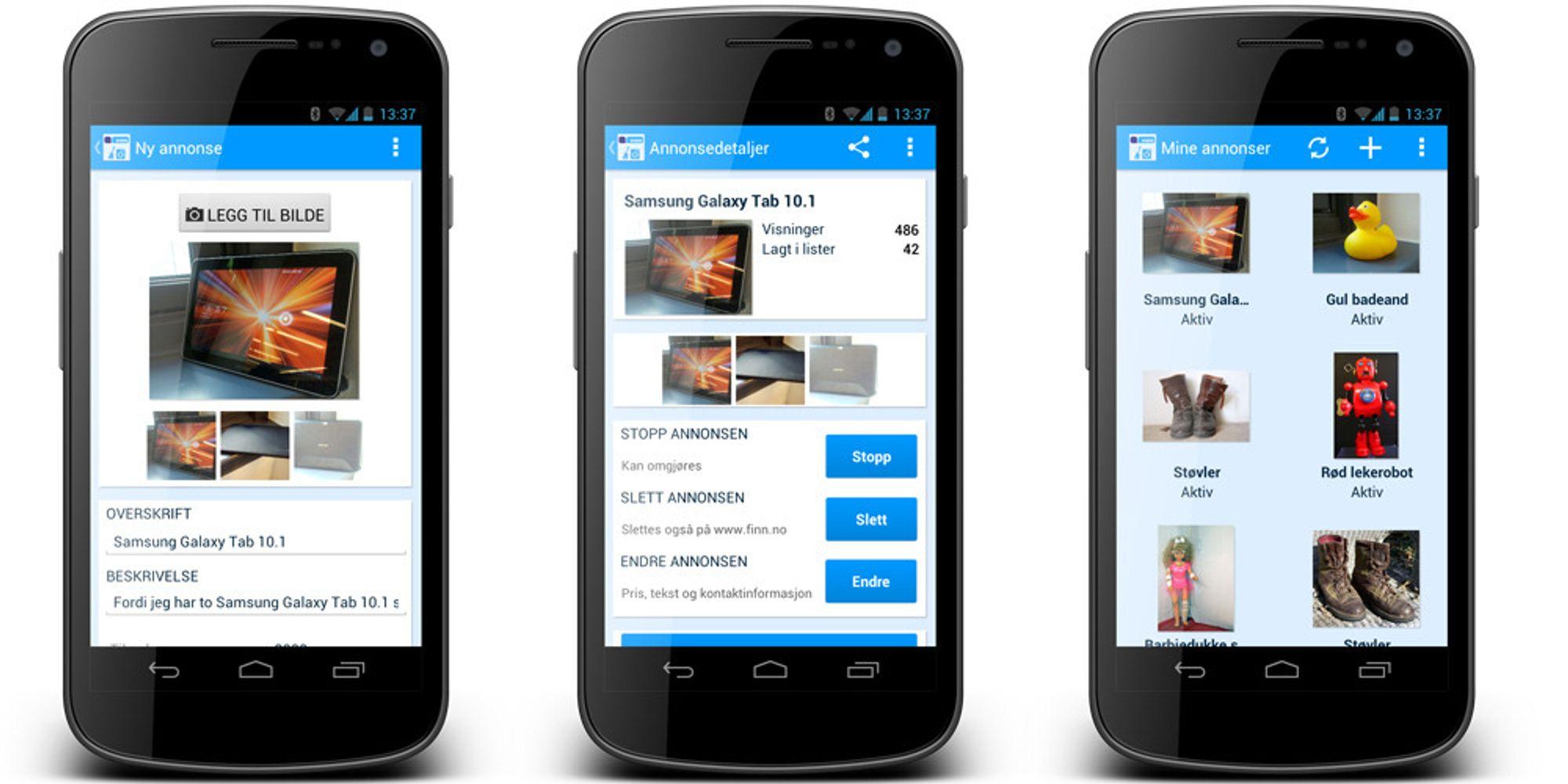 Finn lanserer Android-app