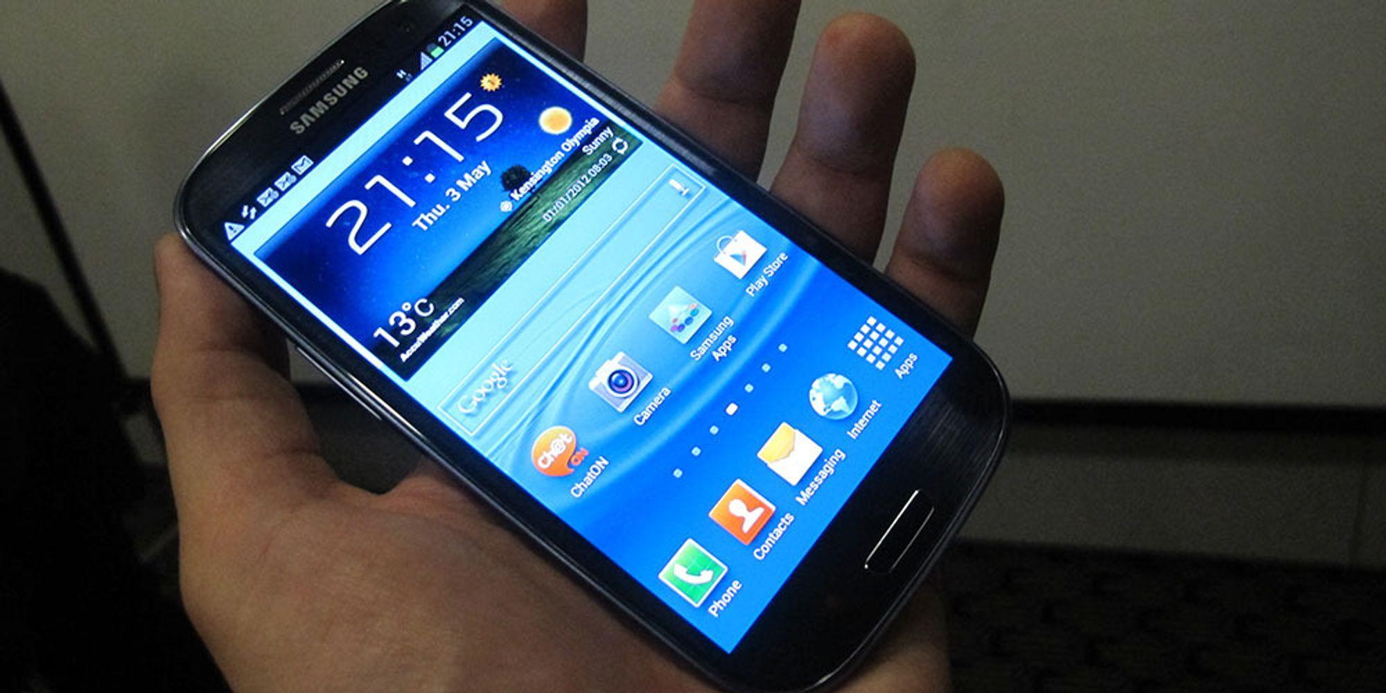 Galaxy S III varer og varer