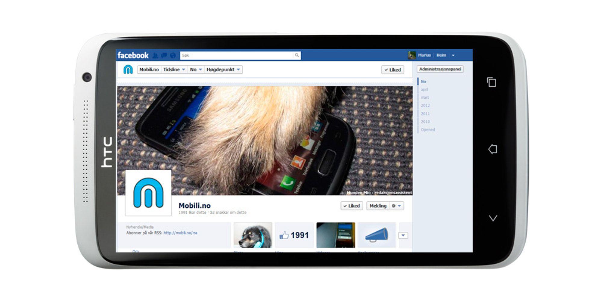 HTC lager Facebook-mobil