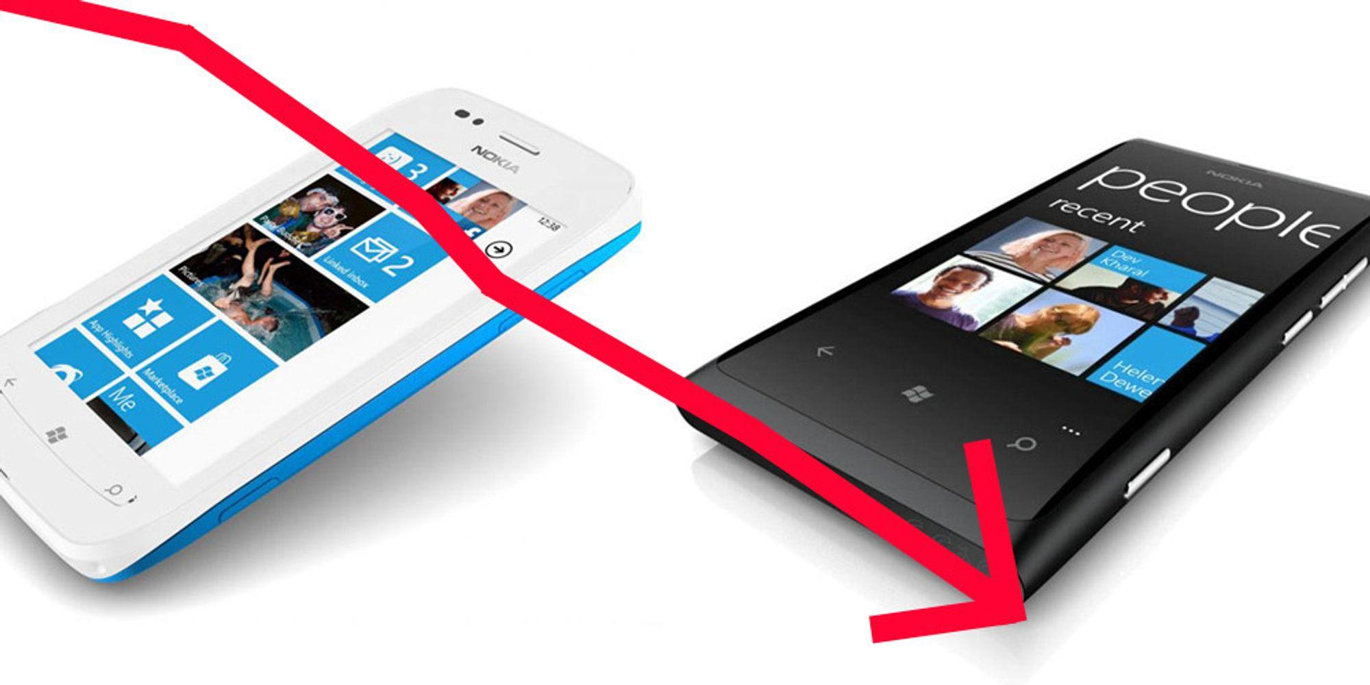 Kraftig Nokia-nedgang i Q1