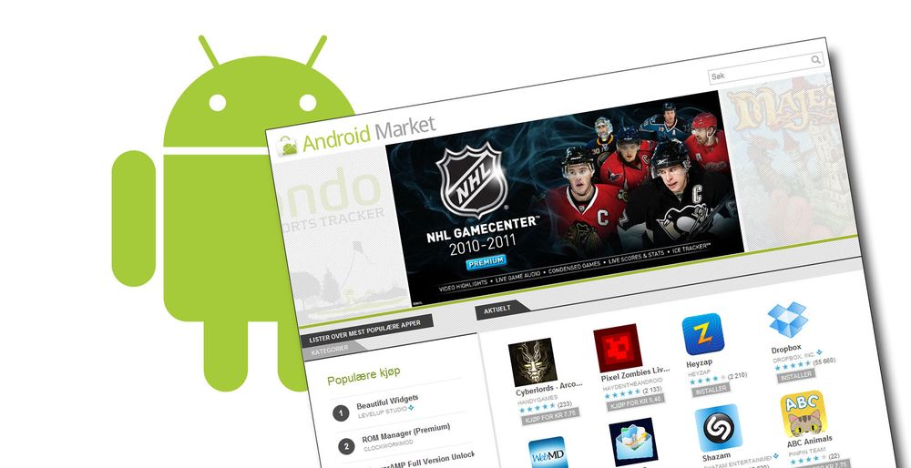 Android Market pusses opp