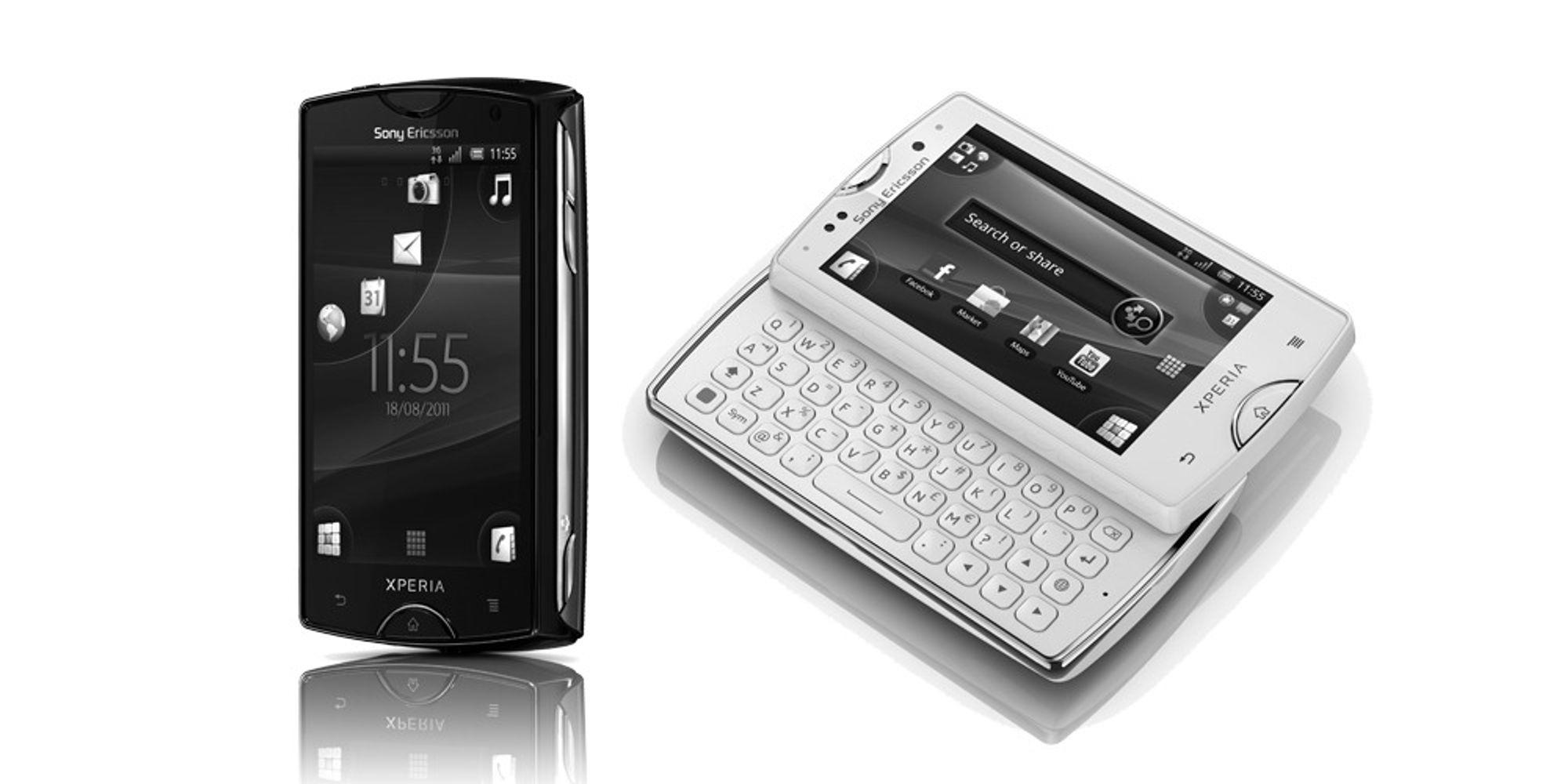 Her er Xperia Mini og Xperia Mini Pro