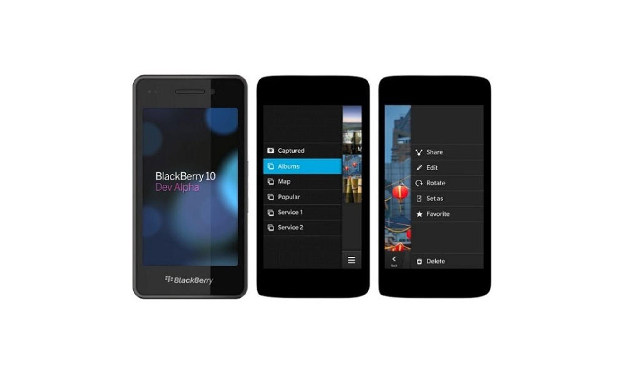 Vurderte BlackBerry med Android