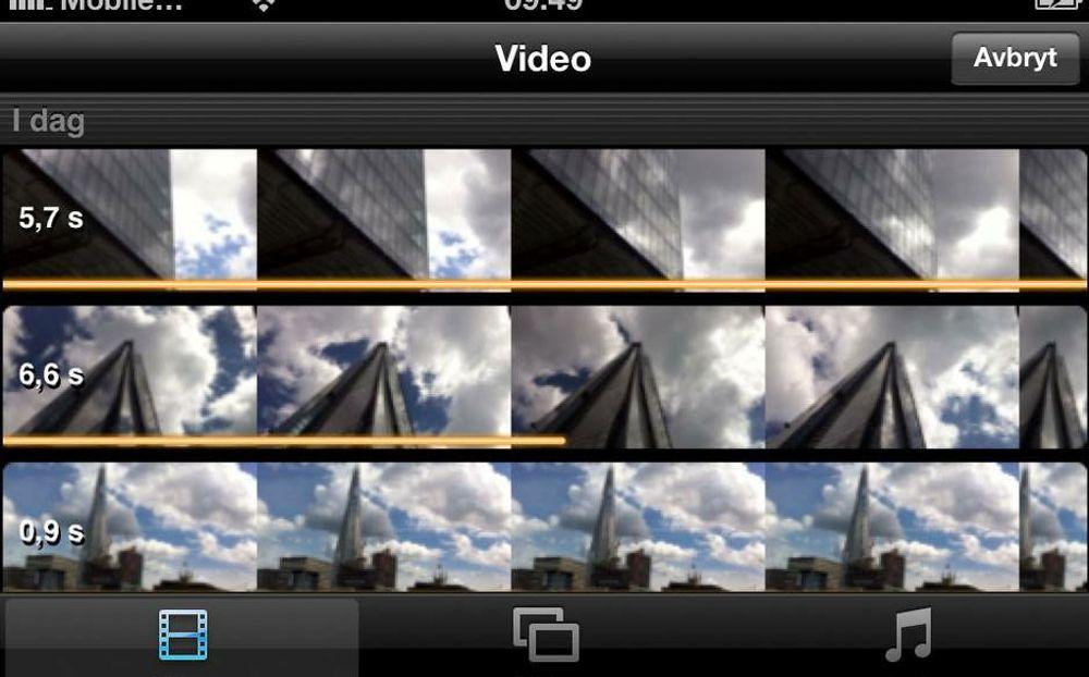 Slik klipper du film med iPhone