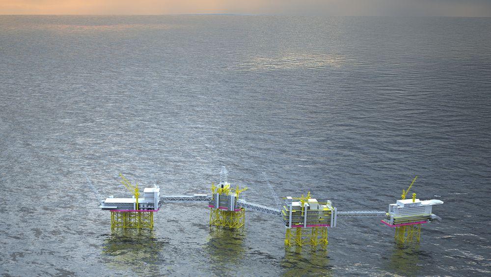 Det strides fortsatt om områdeelektrifisering av Utsirahøyden, her representert ved Johan Sverdrup-feltet.