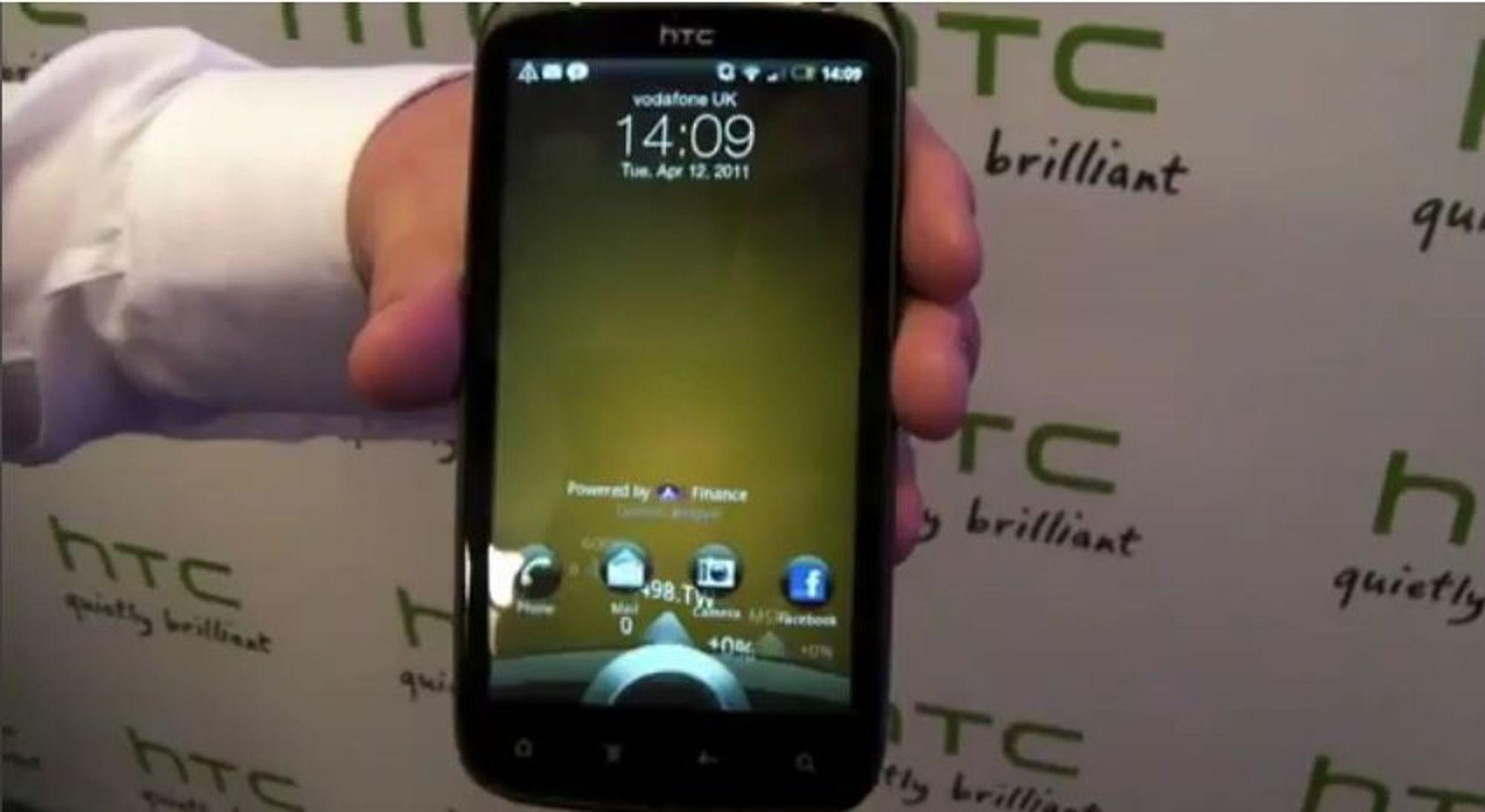 VIDEO: HTC Sensations nye låseskjerm