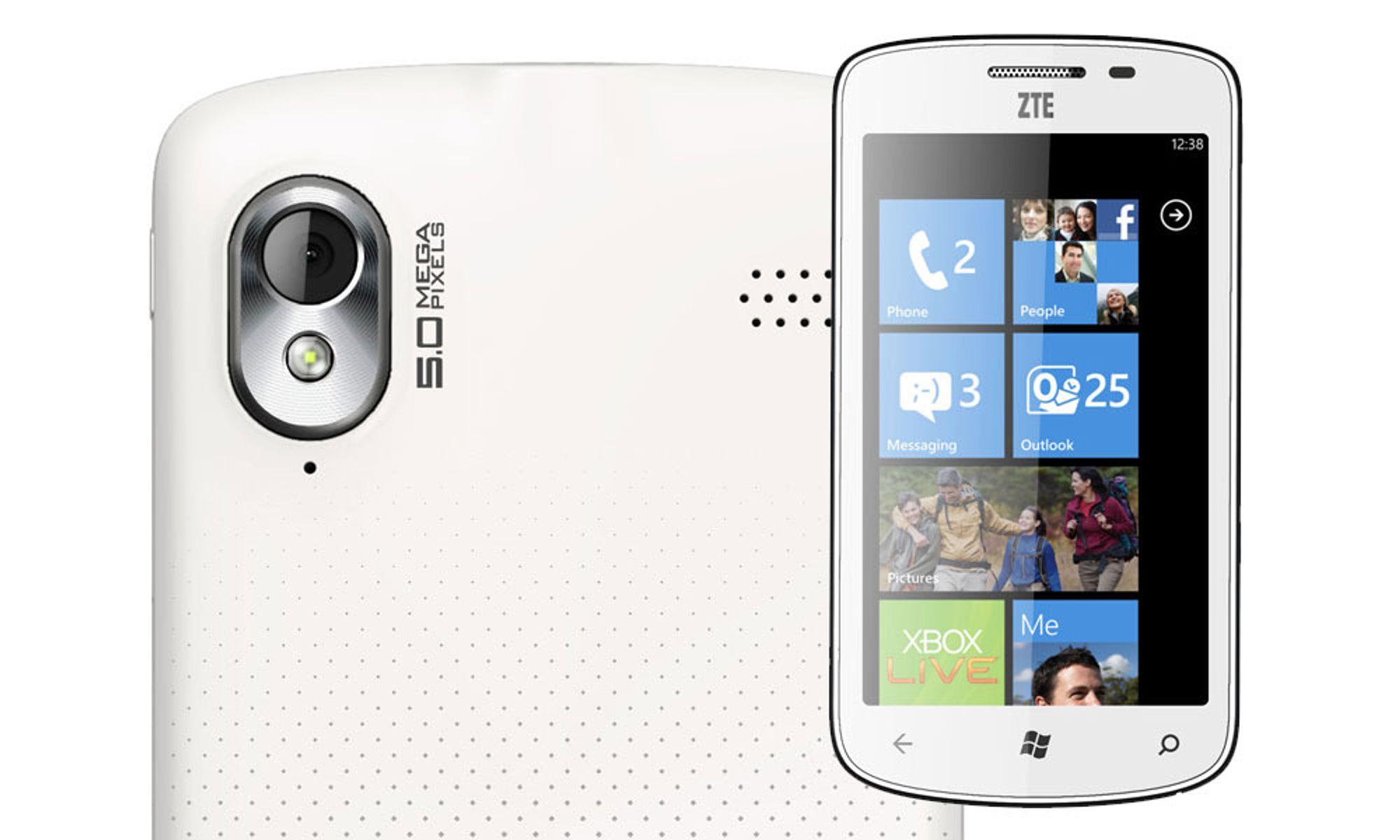 ZTE lanserer Windows-mobil