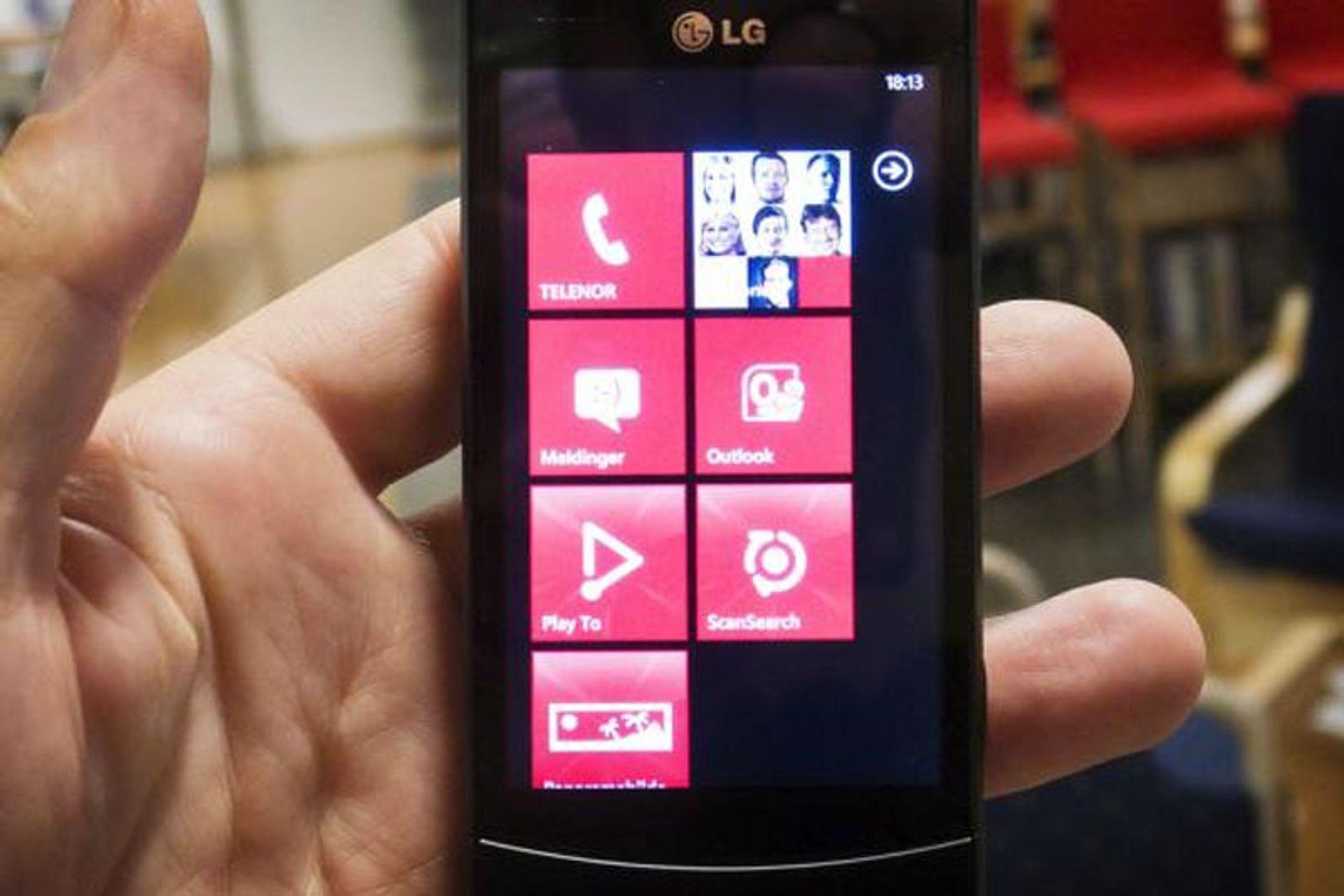 - Windows Phone blir større enn iOS