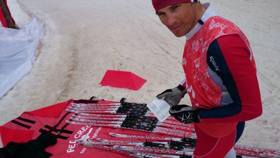 Felix Breitschädel tester skistrukturer i Sotsji.
