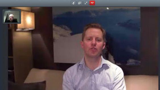 Også på video: Vi pratet med Acanosjef Odd Jonny Winge gennom Google Chrome som støtter WebRTC. Han var på vinterferie og nettforbindelsen var ikke den beste, men det sier litt om hvor enkelt det er å bruke ulike klienter mot  konferansesystemer