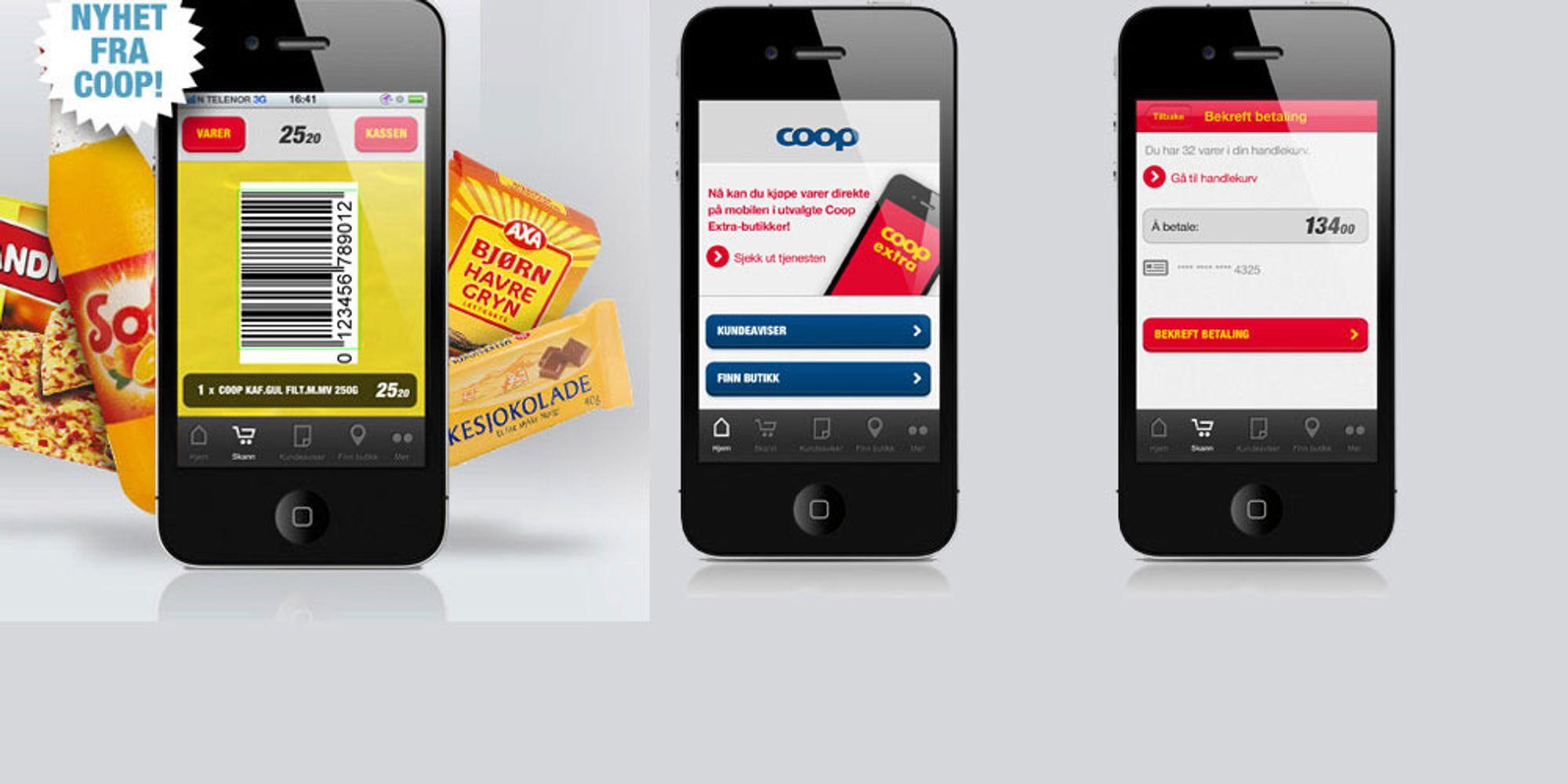 Coop innfører iPhone-betaling