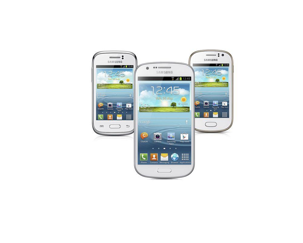 Samsung slipper tre Galaxy-mobiler