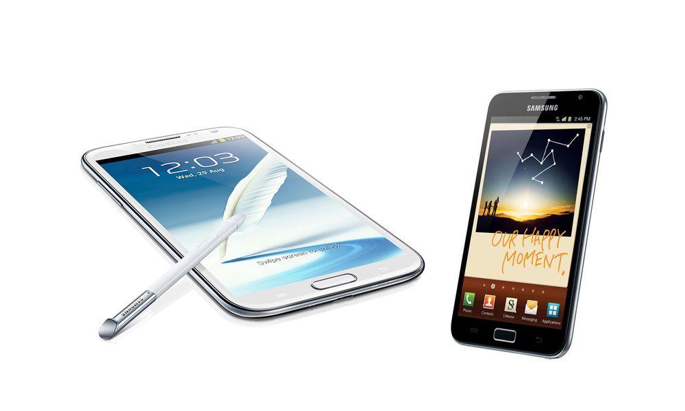 Slik måler nye Galaxy Note II med forgjengeren