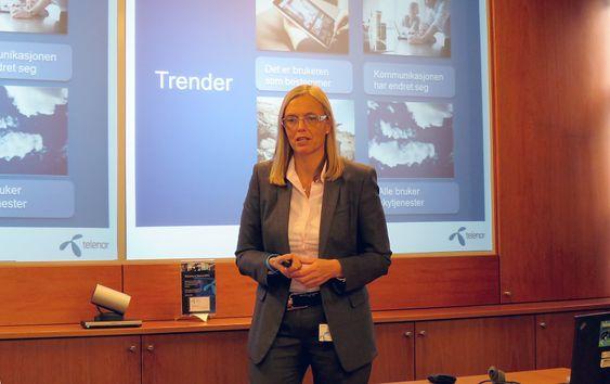 IT og tele til de små: Direktør bedriftsmarkedet i Telenor, Marina Lønning, har med seg Microsoft når telegiganten nå skal tilbyr fullt integrert Office og telekommunikasjon i nettskyen til små og mellomstore bedrifter