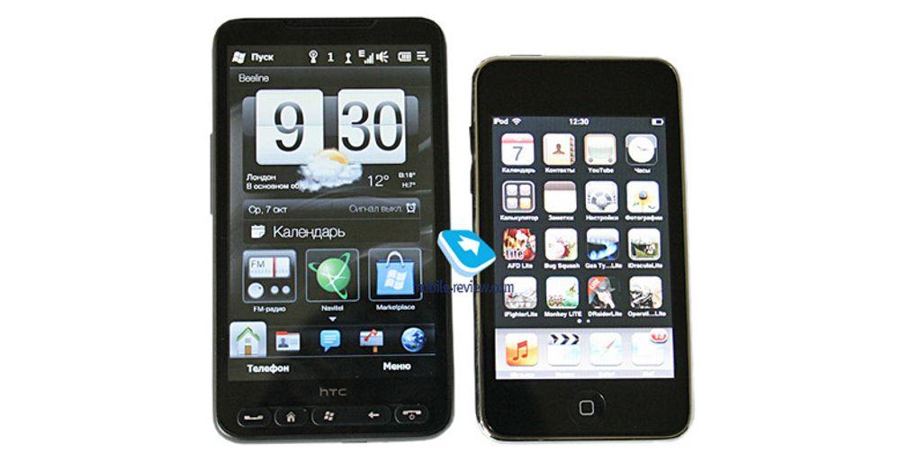 Den første testen av HTC HD2